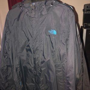 Black Northface Raingear 2 Layer Jacket